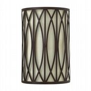 Walden Wall Light in Bronze with an Off White Linen Shade - HINKLEY HK/WALDEN2